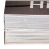 In alto: Hotmelt o PUR (visivamente nessuna differenza) - In basso: rilegatura cucita a filo refe più incollaggio (qualità di rilegatura massima)