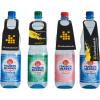 Bottiglie in PET con 4 diversi contorni per cartellini per bottiglia