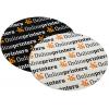 Gli adesivi per esterni sono disponibili in pellicola di PVC bianca o trasparente (rotonda, ovale o angolare)