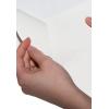 Fessura sul retro della carta autoadesiva bianca