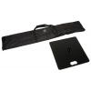 Custodia (inclusa) e piastra di appoggio (opzionale) con una grandezza di 49 x 49 cm e un peso di 15 kg