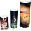 Espositore di forma cilindrica; disponibile in tre grandezze diverse