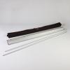 I pali possono essere riposti comodamente nella cassetta in alluminio, incl. borsa di trasporto (come da figura)