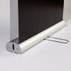 Entrambi i banner possono essere riposti in solo una cassetta in alluminio (come da figura)