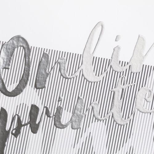 Cartoline con foglio in argento parziale