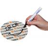 A seconda del motivo sarebbe possibile effettuare senza problemi una siglatura con una penna indelebile. (Nonostante la finitura in vernice UV su tutta la superficie)