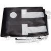 In dotazione: bandiera stampata, piegata, dotata di ganci in plastica