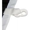 Cappio cucito sopra con moschettone in plastica