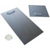 Supporto autoadesivo in metallo (2 unità per cartello). A seconda delle dimensioni e del peso del cartello, questo viene fornito nelle dimensioni 10 x 10cm o 10 x 20cm, incl. distanziali autoadesivi in gomma.