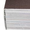 Rilegatura con brossura incollata PUR: il dorso del blocco libro viene irruvidito e incollato con la copertina