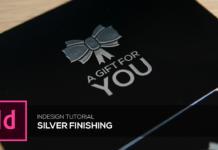 finitura con stampa argento