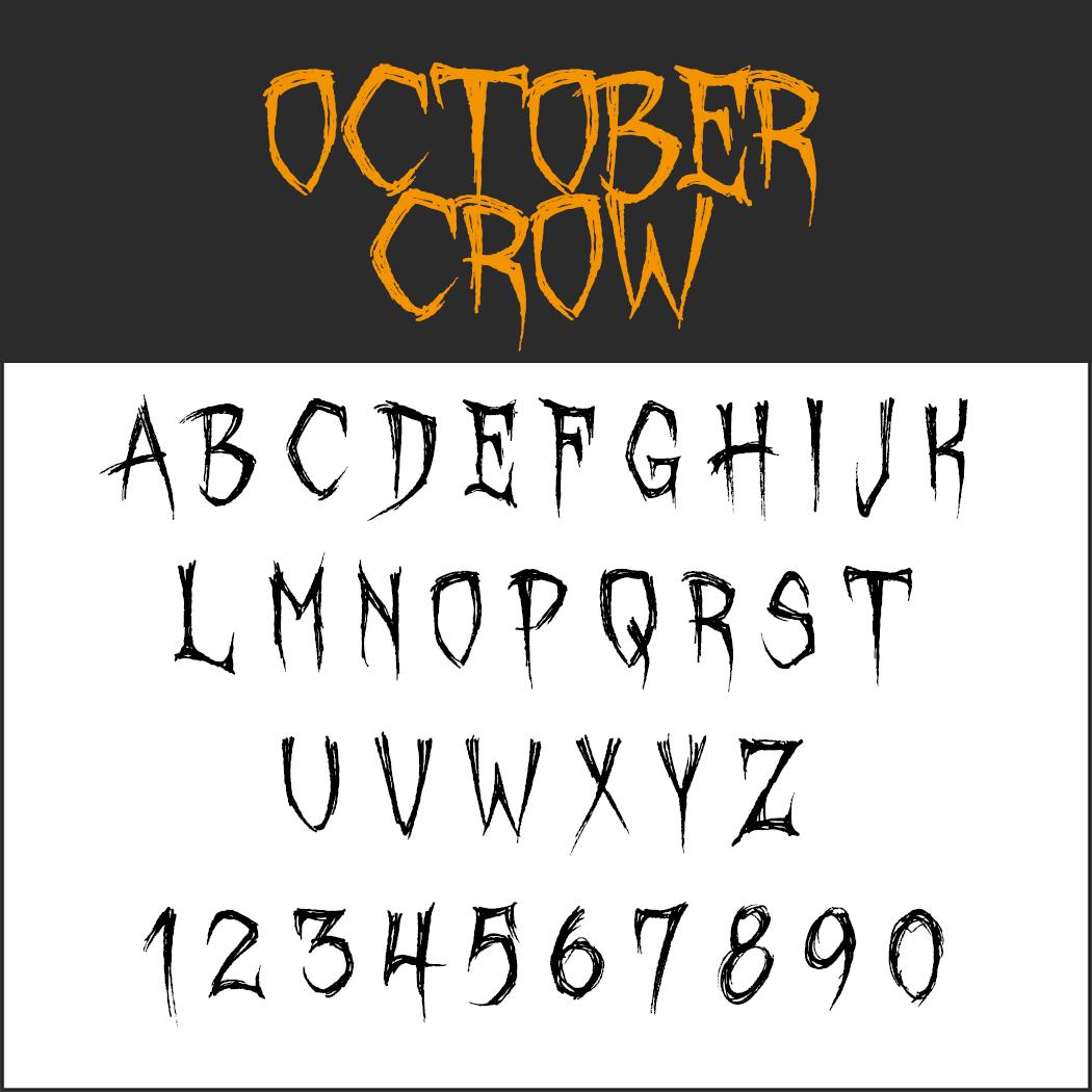 Halloween Schrift
