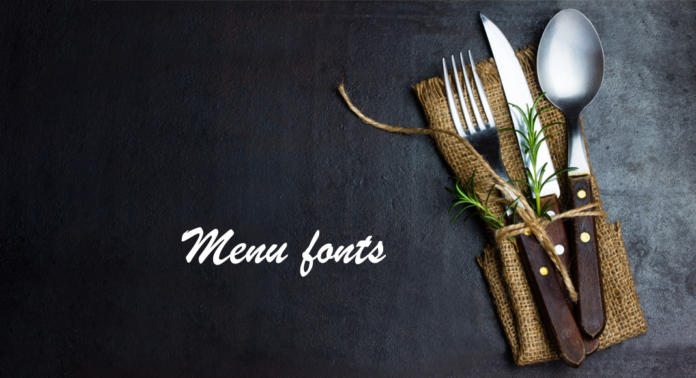Font per menu