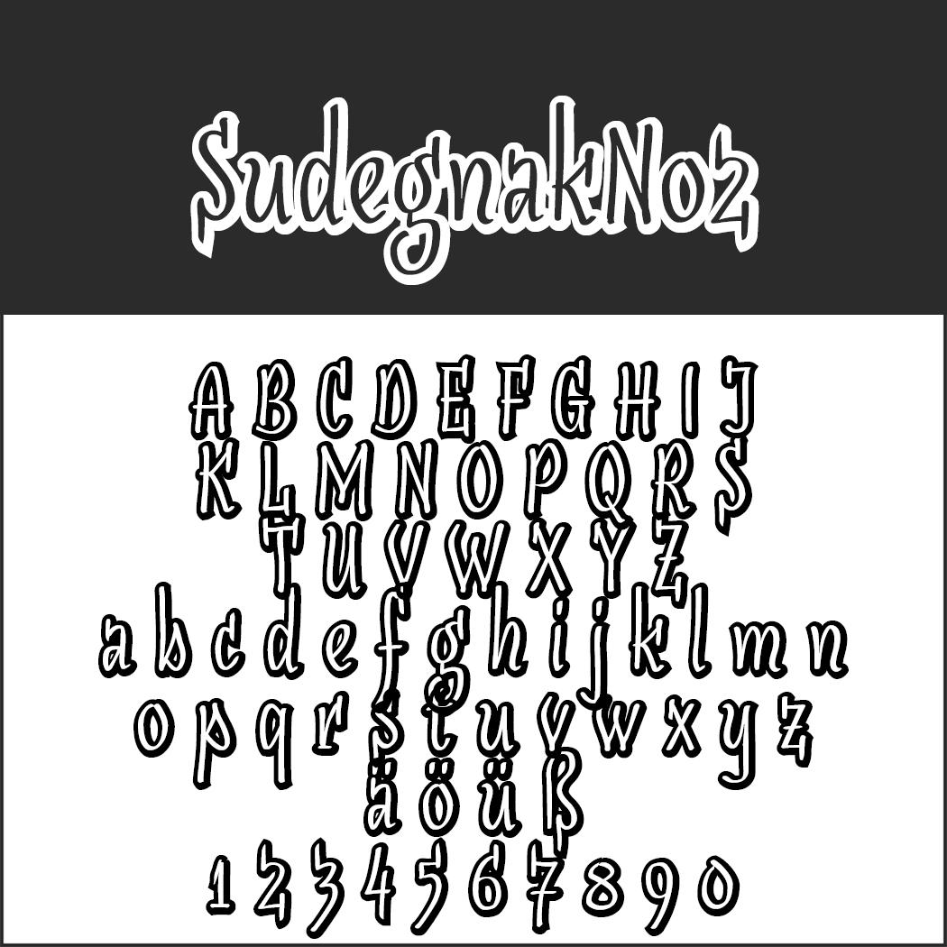 3D font SudegnakNo2
