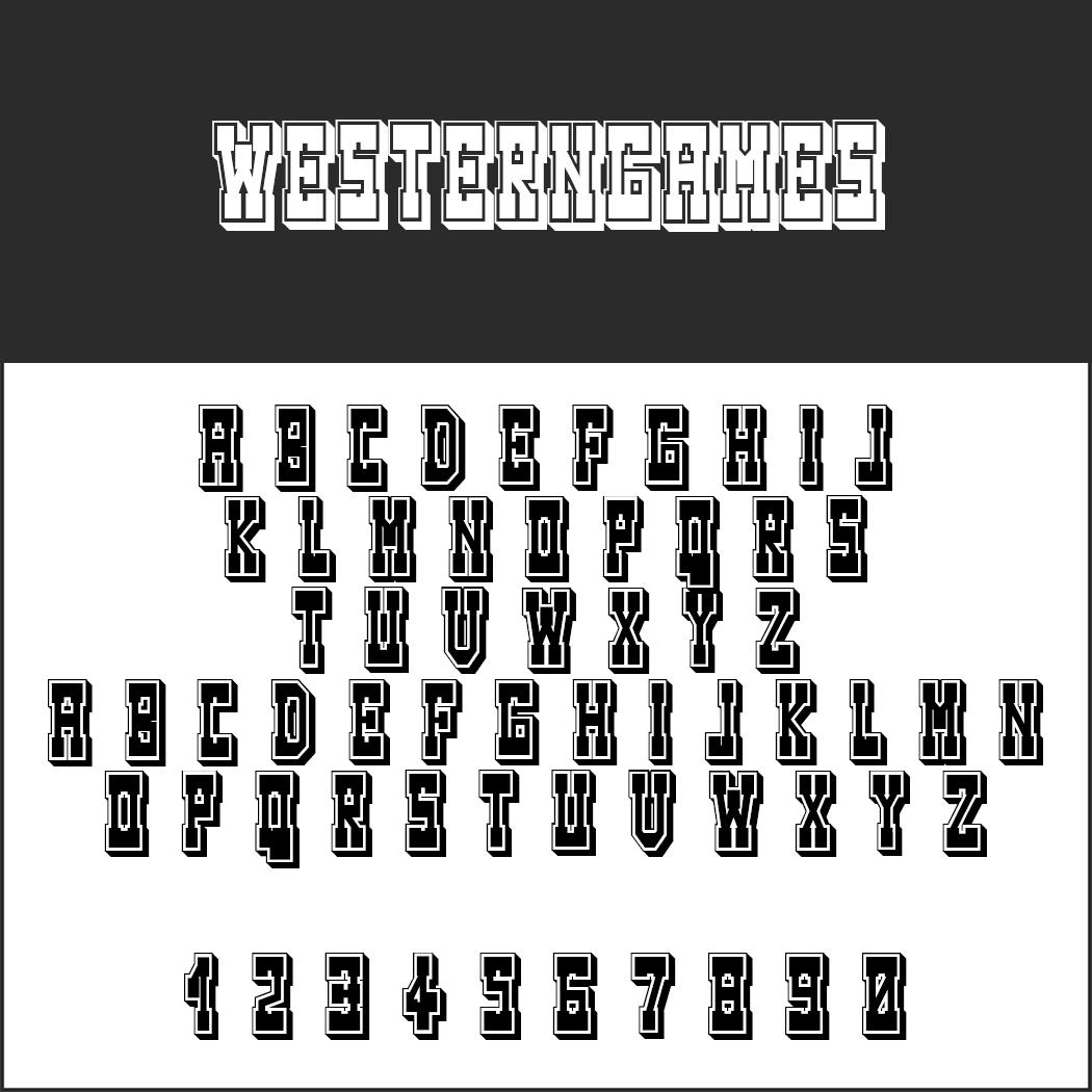 3D font Westerngames