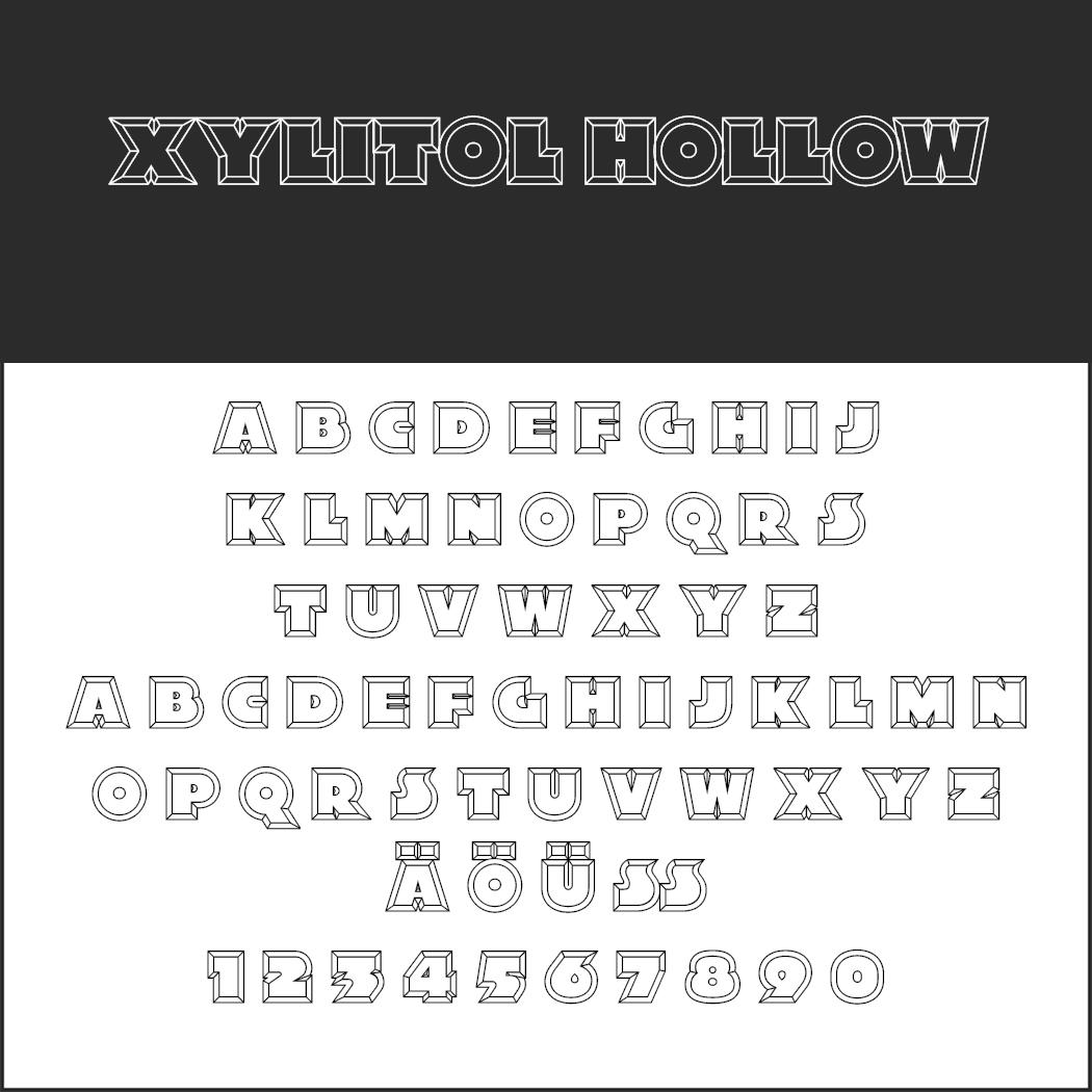 3D font Xylitol Hollow width=